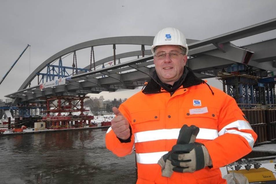 Der Verkehr rollt darüber, abbezahlt ist die Waldschlößchenbrücke aber noch nicht, sagt Henri Lossau, der Technische Leiter des Bauprojekts.