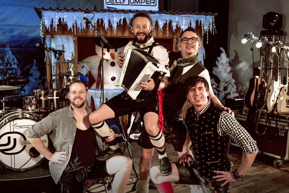 Jolly Jumper sind schon in Festlaune: Die Band tritt beim 1. Görlitzer Oktoberfest auf.