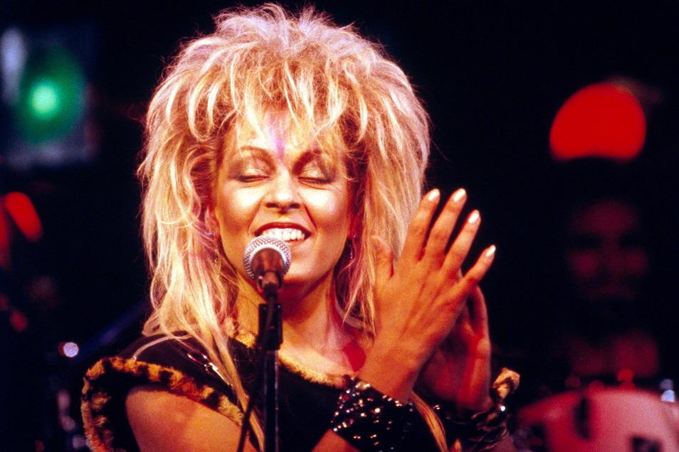 Tamara Danz in den 80er-Jahren bei einem Konzert ihrer Band Silly.