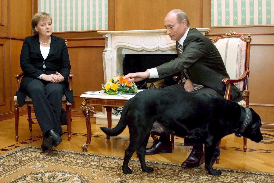 Angela Merkel bei einem Besuch bei dem russischen Präsidenten Wladimir Putin im Jahr 2007