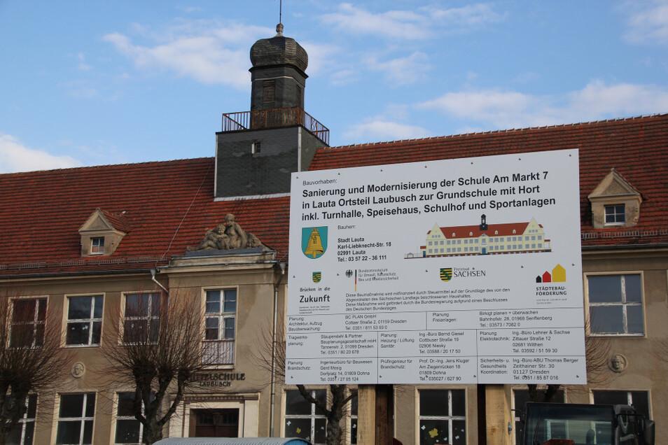 Sanierung des Schulgebäudes am Laubuscher Markt