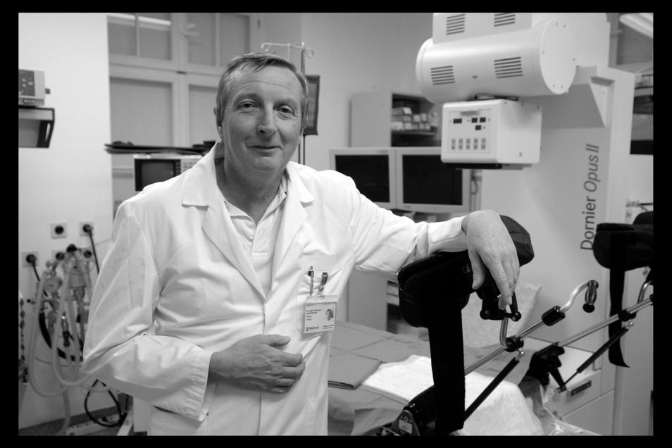 Dr. Hermann Josef Schmitz, hier auf einem Archivfoto, war Chefarzt in Görlitz und praktizierender Urologe in Zittau. Ende Januar ist er 65-jährig gestorben.