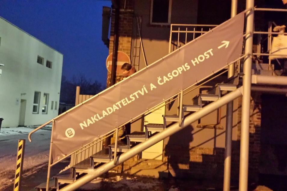 Host, führender Verlag für Gegenwartsliteratur in Tschechien, sitzt in einer ehemaligen Fabrik.