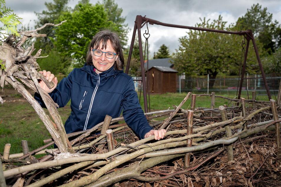 Katrin Poike, Geschäftsführerin des Naturschutzzentrums in Neukirch, hofft auf Unterstützung für den geplanten Gemeinschaftsgarten.