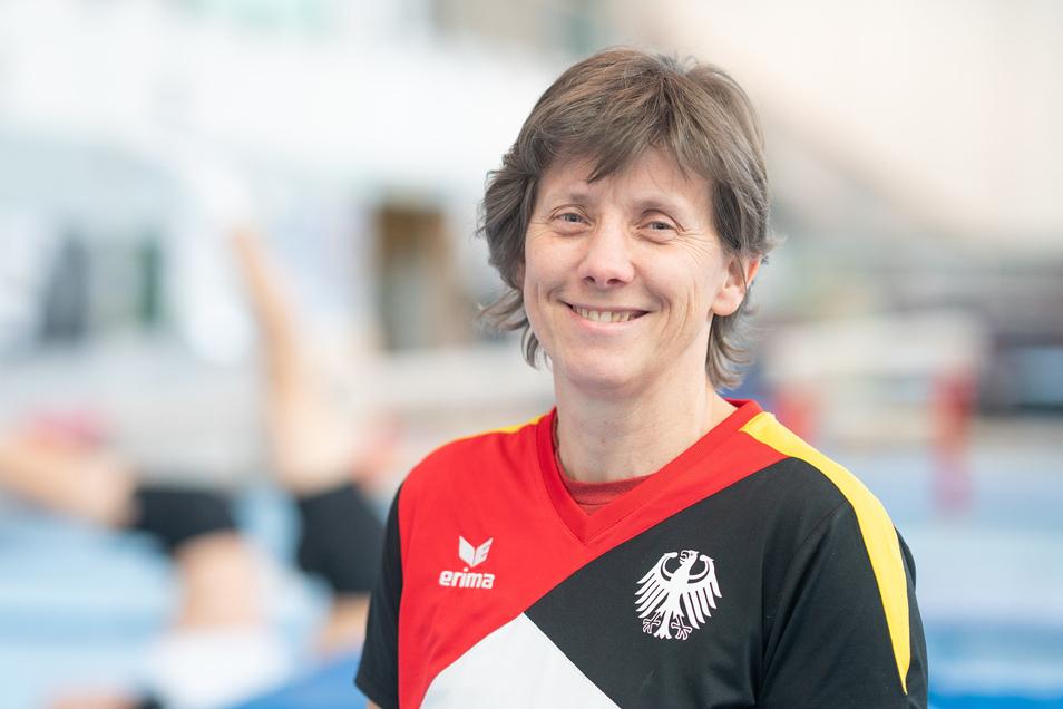 Sportakrobaten Trainerin Petra Vitera.