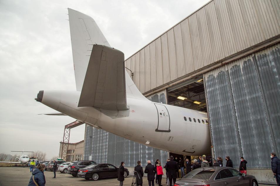 Baulich müsste am Flugplatz Rothenburg einiges passieren, sollte das Flugzeug-Recycling hier im großen Maßstab aufgezogen werden. Der Hangar ist für Großflugzeuge bisher viel zu klein.