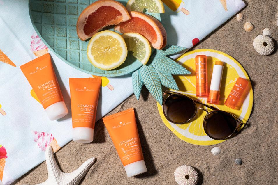 Die Sommerpflegeprodukte von Charlotte Meentzen schützen zuverlässig vor Sonnenbrand.