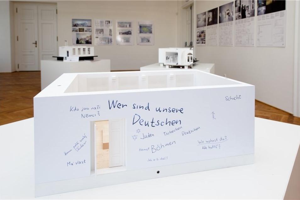 """""""Wer sind unsere Deutschen?"""", fragt das Modell der geplanten Dauerausstellung über die Deutschen in Böhmen und Mähren."""