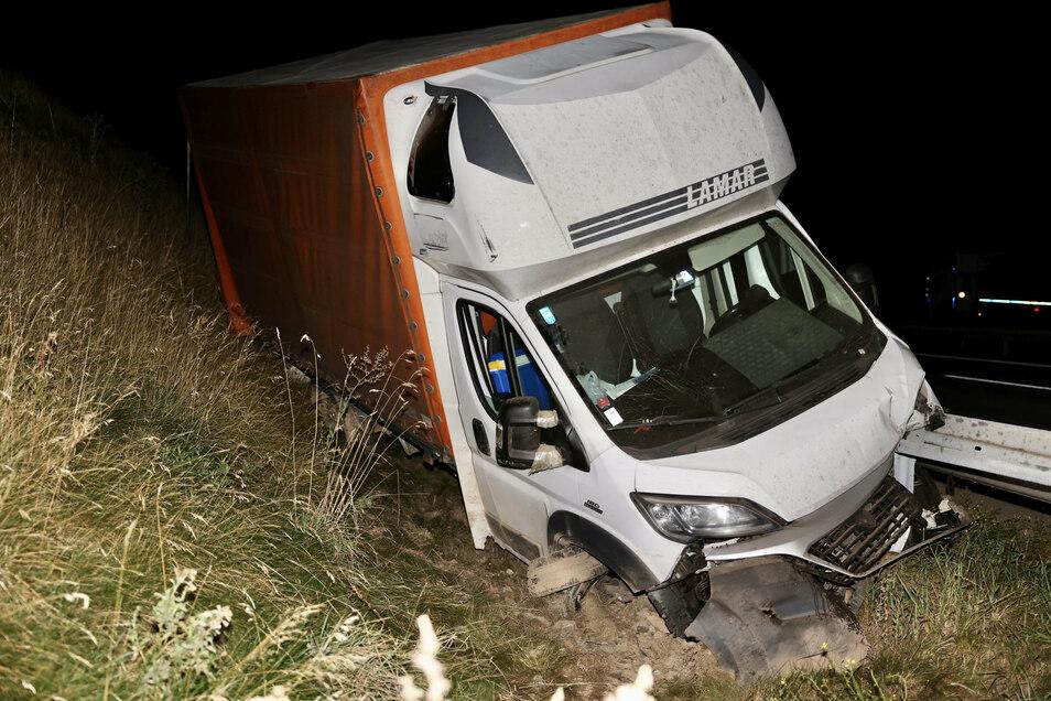 Dieser Transporter aus der Slowakei kam von der Autobahn an.