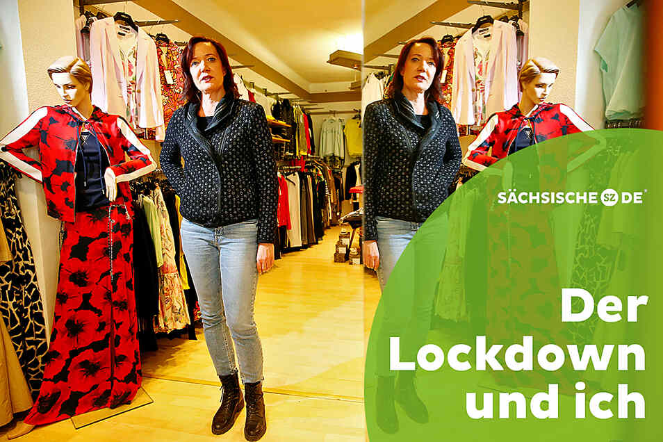 Gaby Hahn führt drei Modeläden; zwei in Kamenz, eines an der Reichenstraße in Bautzen. Die Geschäftsfrau kritisiert die aktuelle Corona-Politik.