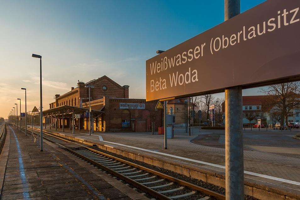 Bahnhof Weißwasser. Seine Revitalisierung könnte der Stadt einen Schub geben.