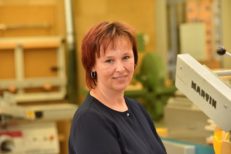 Ina Driesel leitet seit vier Jahren das Berufsschulzentrum in Freital.