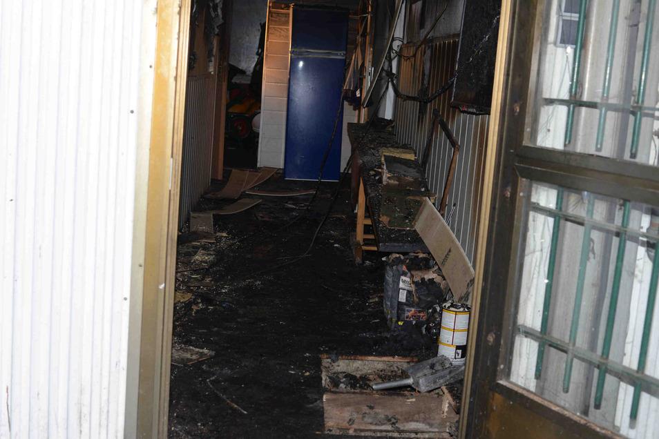 Das Feuer im Vereinsheim hinterließ deutliche Spuren.