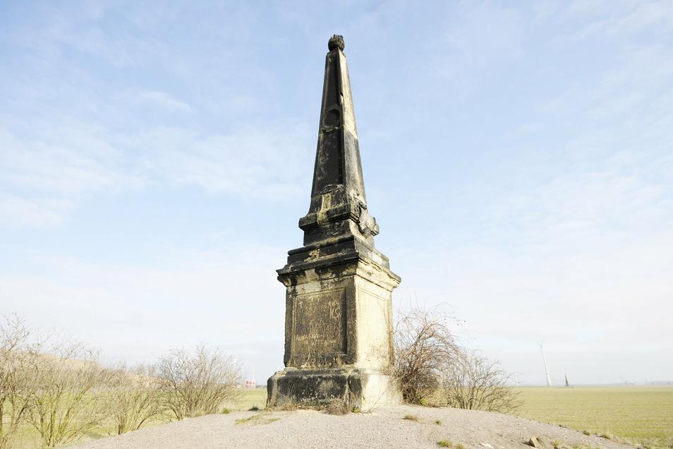 Dieser Obelisk erinnert an das Zeithainer Lustlager von August dem Starken, das er in der Region vor 290 Jahren mit viel Prunk und berühmten Gästen ausrichten ließ. Das ist eine touristische Attraktion, mit der Zeithain künftig mehr punkten möchte.