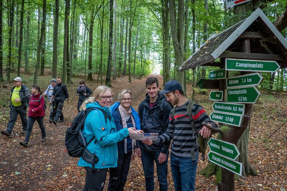 Lisa Horn, Bianca Stephan, Steven Horn und Konrad Lichtenstein stammen aus der Gegend und laufen beim Sachsendreier eine 19-Kilometer-Tour.
