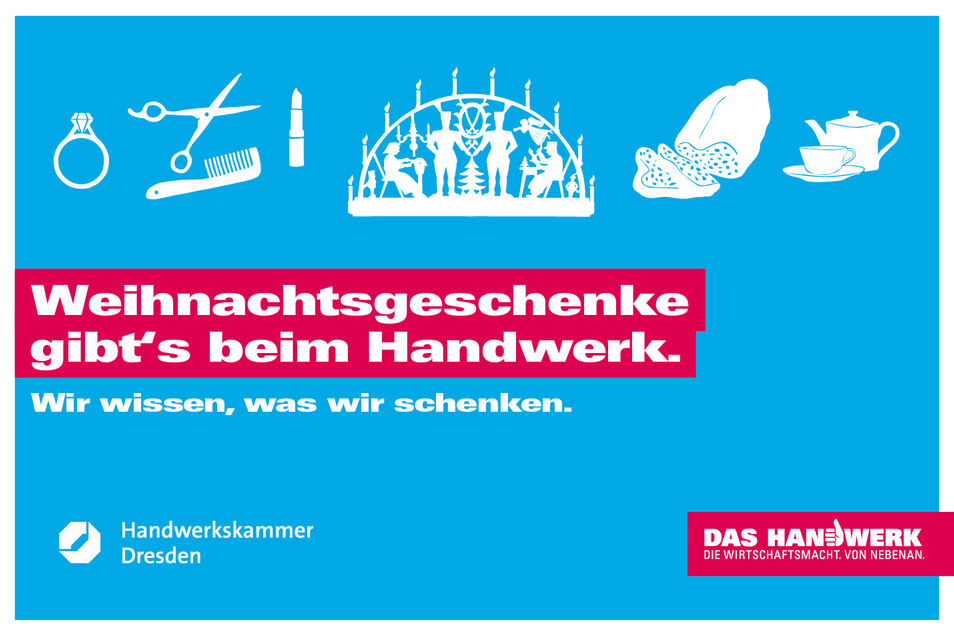 Die Handwerkskammer Dresden ist Partner unseres Advents-Gewinnspiels.