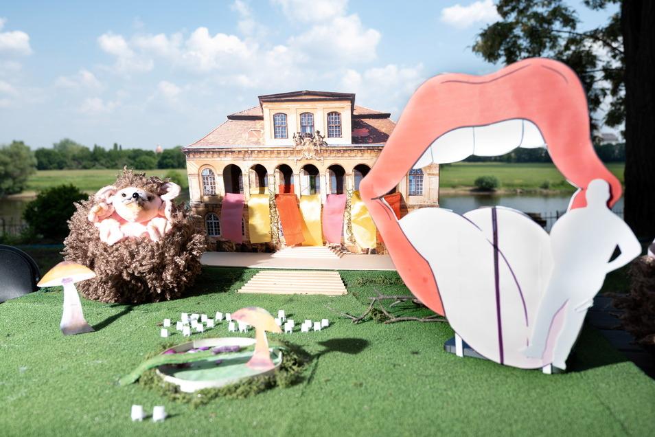 Ein 3D-Modell zeigt das Elbschloss Übigau als den Ort, in dem Alice in ihr Wunderland eintaucht.