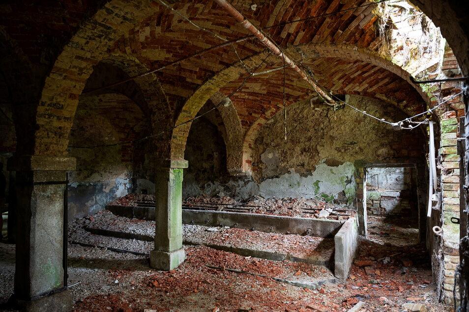 In diesem Gewölberaum des Kuhstalls kann sich David Ledwon ein italienisches Restaurant vorstellen.
