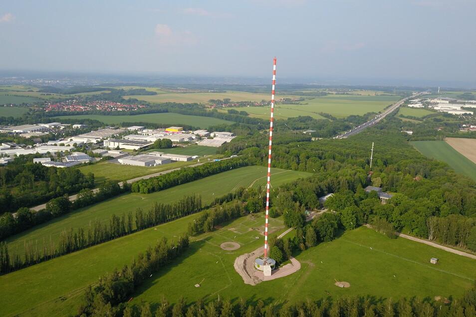 Die Wilsdruffer Riesenantenne ist eine Landmarke - noch. Ihr Besitzer, die Kölner Firma Media Broadcast will sie sprengen.