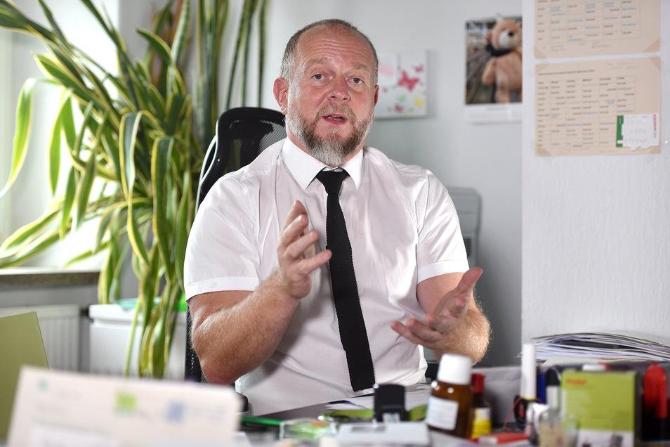 Ronald Lindecke aus Ebersbach-Neugersdorf ist Vorsitzender des Kreiselternrates.