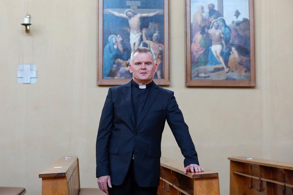 Waldemar Styra ist der neue Pfarrer in der Römisch-Katholischen Pfarrei Mariä Himmelfahrt in Leutersdorf.