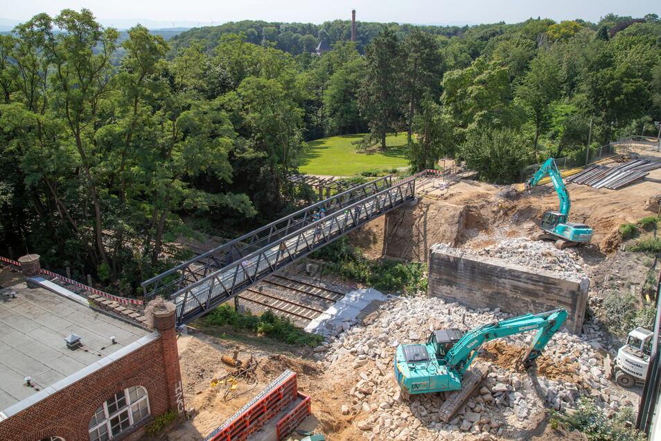 Ein Bild von oben: So sah der Abriss von der Ostseite her gesehen aus.