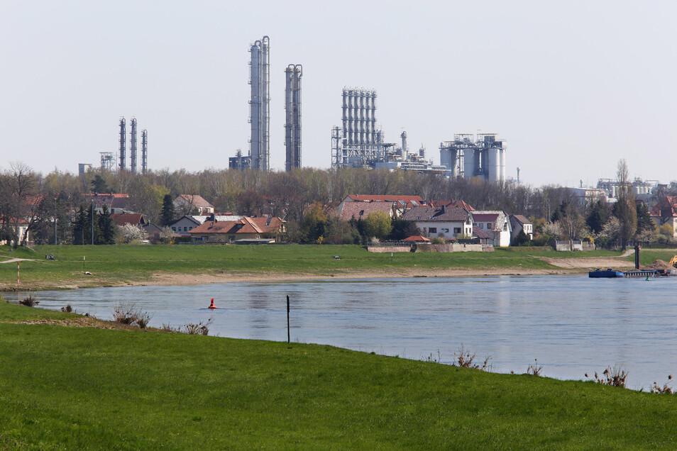 Blick auf das 130 Hektar große Werksgelände in Nünchritz.