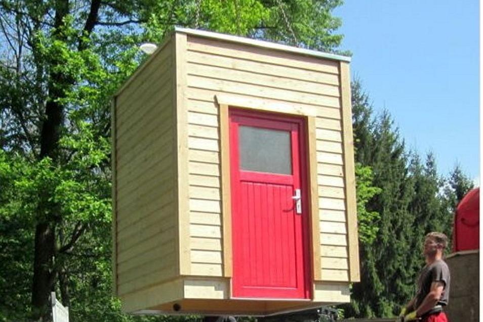 So könnten die neuen Waldtoiletten für das Bielatal und den Papststein aussehen: Naturnah und mit dezenter Holzoptik.