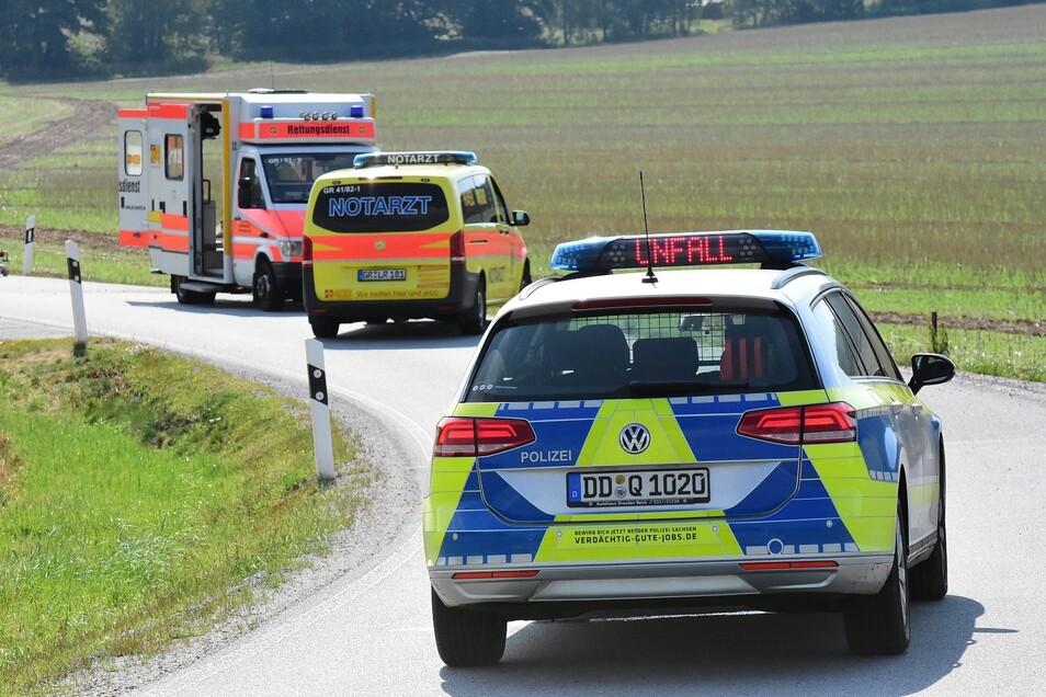 Rettungsdienst, Notarzt und Polizei sind im Einsatz.