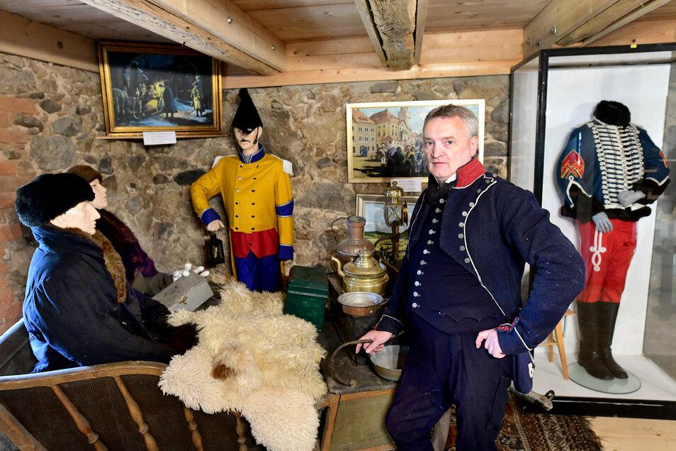 Matthias Sander organisierte das Biwak und konzipierte gemeinsam mit Bernd Engelmann das neue Napoleon-Museum. Es wurde gleichzeitig am Sonnabend eröffnet.