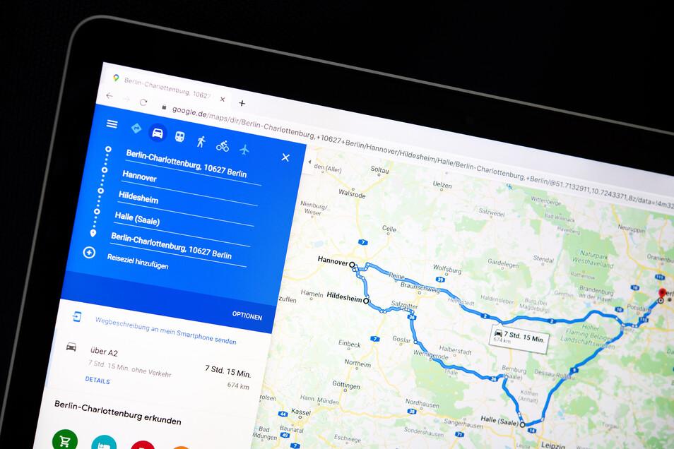 Routen lassen sich am Rechner-Bildschirm vorbereiten und dann ans Mobilgerät schicken.