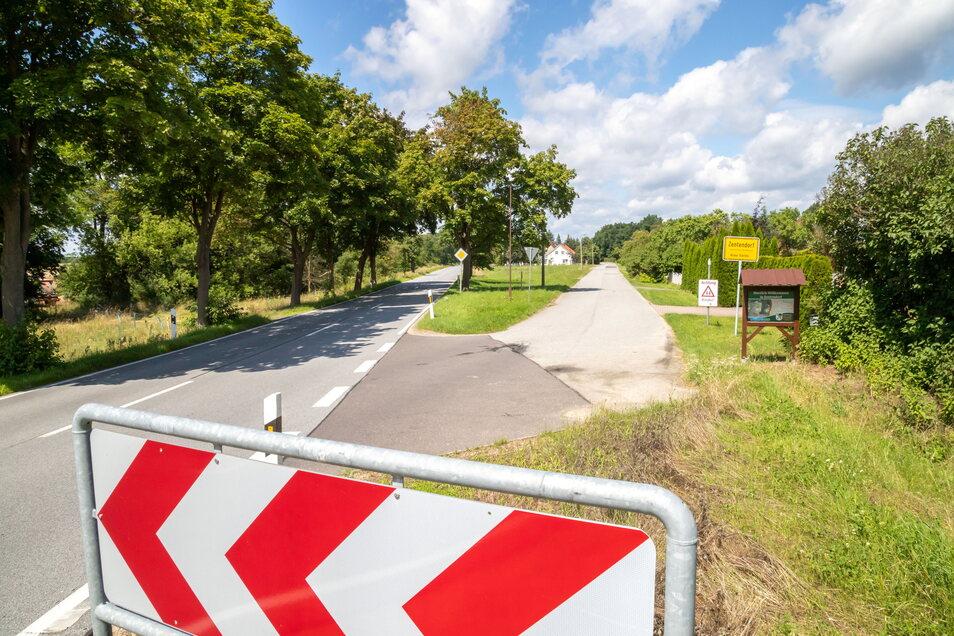 Instandgesetzt werden soll dieses Jahr auch die südliche Einmündung von der S 127 in den Ort Zentendorf.
