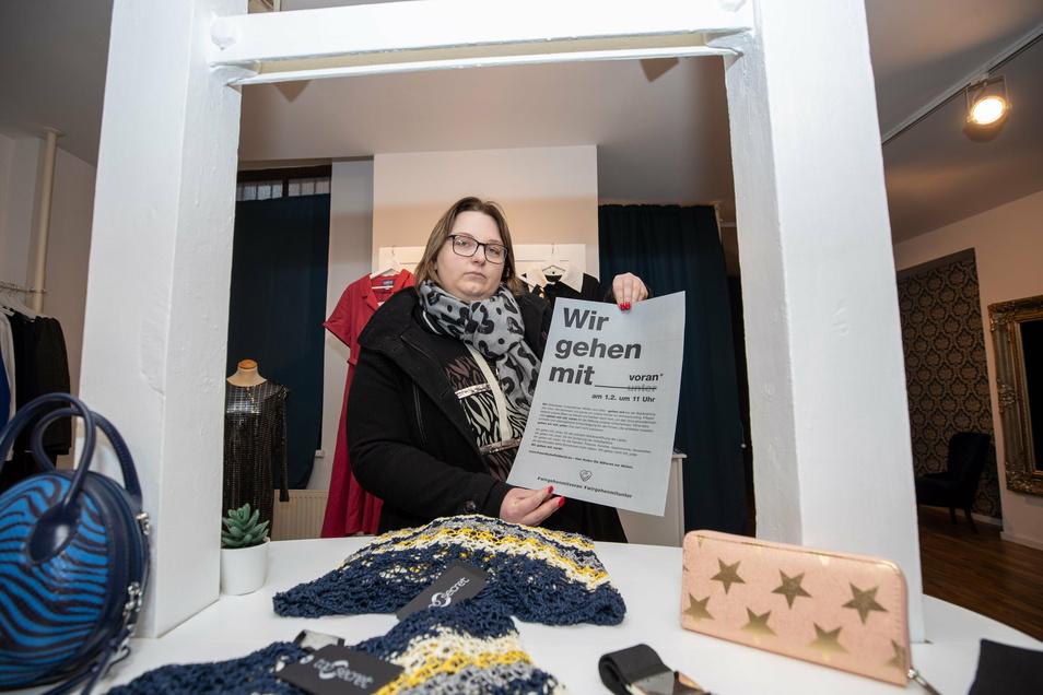 """Katrin Seifert-Delank, Inhaberin des Ladens """"Crazy Curvy"""" in Pirna: """"Bis März halte ich vielleicht noch durch."""""""