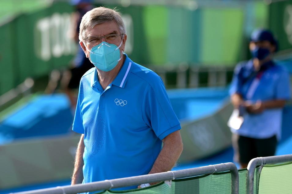 IOC-Präsident Thomas Bach zieht in Tokio zufrieden Bilanz.