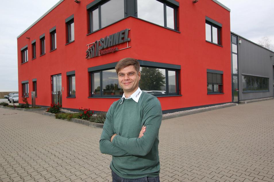 Rico Söhnel hat die Chancen genutzt, die ihm nach der Wende offen standen. In zwei Jahren will er seine Firmenzentrale im Roßweiner Gewerbegebiet erweitern lassen.