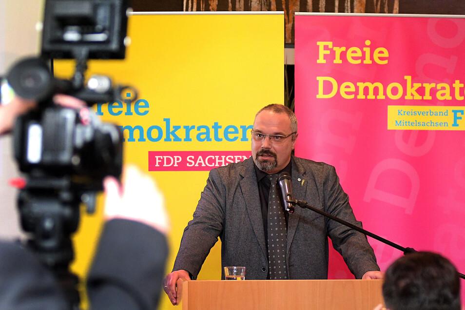 Sachsens Bauernchef Torsten Krawczyk sprach beim Dreikönigstreffen der FDP im WelWel.
