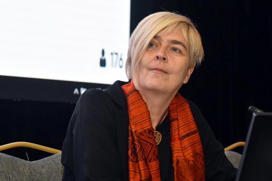 Die UNHCR-Vertreterin in Deutschland, Katharina Lumpp