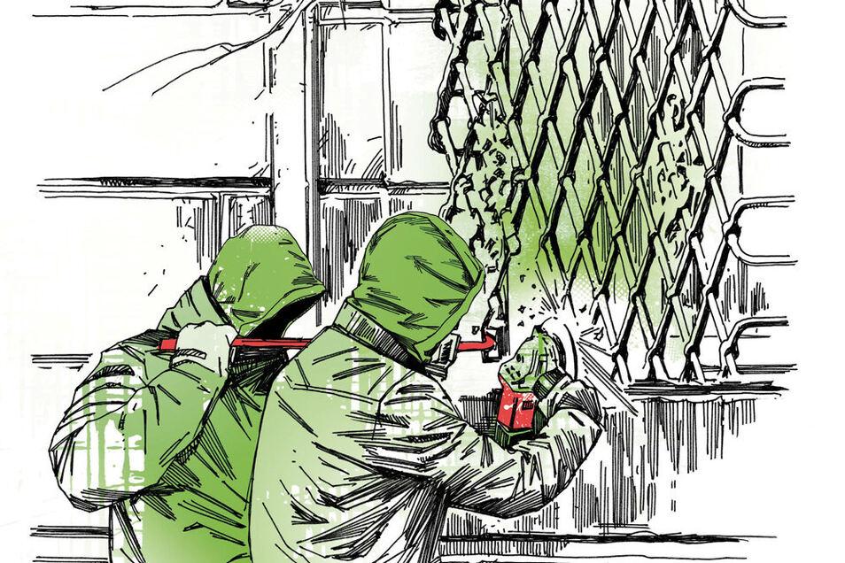 So könnten sich die beiden Einbrecher Zugang zum Grünen Gewölbe verschafft haben.