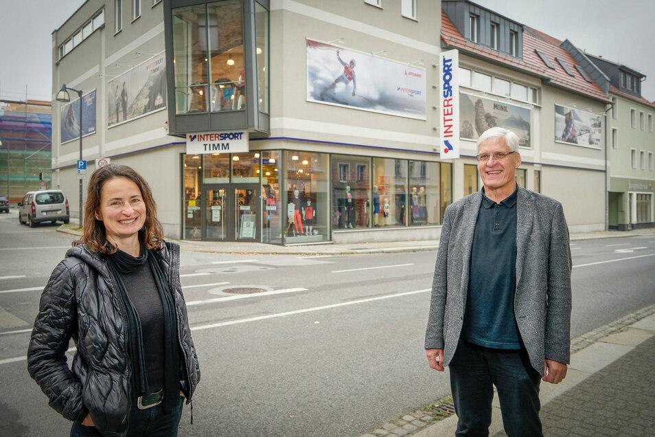 Das Sporthaus Timm in Bautzen gehört zu den Objekten, für die das Architektur- und Ingenieurbüro AIB die Planungen gemacht hat. Dessen Geschäftsführer Matthias Medack übergibt die Leitung bald an zwei jüngere Mitarbeiter, darunter Marén Kupke.