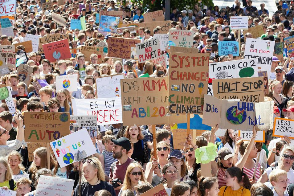 Teilnehmer der Klima-Demonstration Fridays for Future sollen moralisieren dürfen.