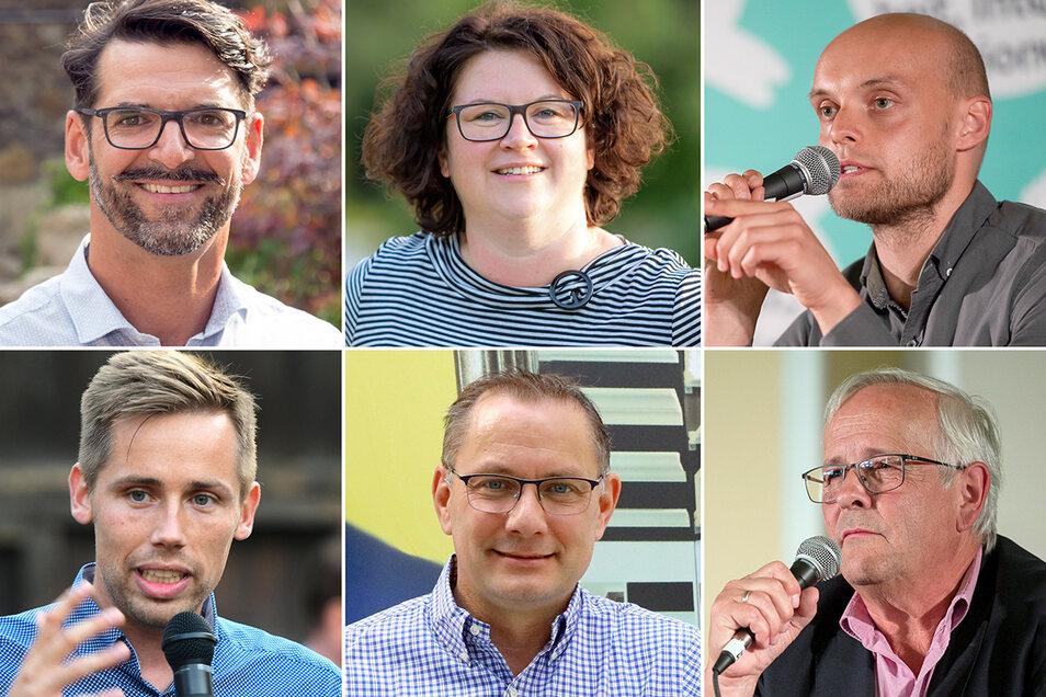 Harald Paruase-Kosubeck (SPD), Annett Jagielea (Bündnisgrüne), Marko Schmidt (Linke), Florian Oest (CDU), Tino Chrupalla (AfD) und Hans Grüner (FDP): Taktisch wählen oder nicht?
