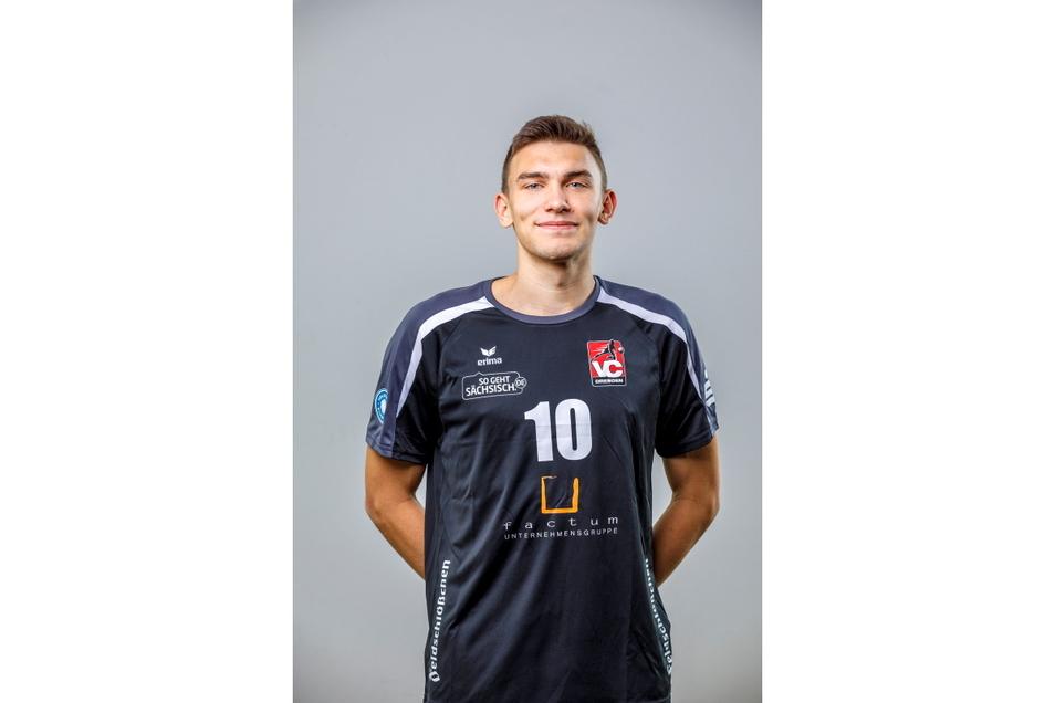 Florian Rietz aus Hohnstein gehört jetzt zum Bundesliga-Kader des VC Dresden.