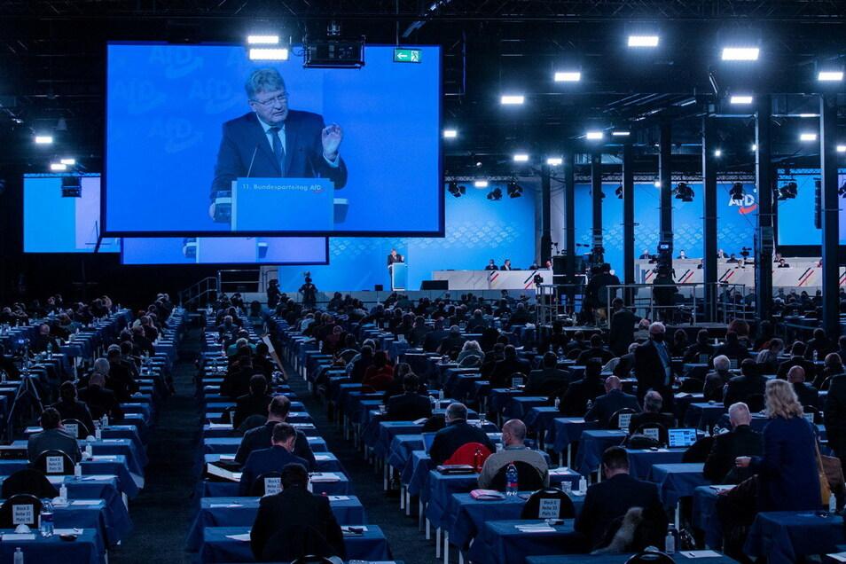 Jörg Meuthen, Bundessprecher, spricht beim Bundesparteitag der AfD.