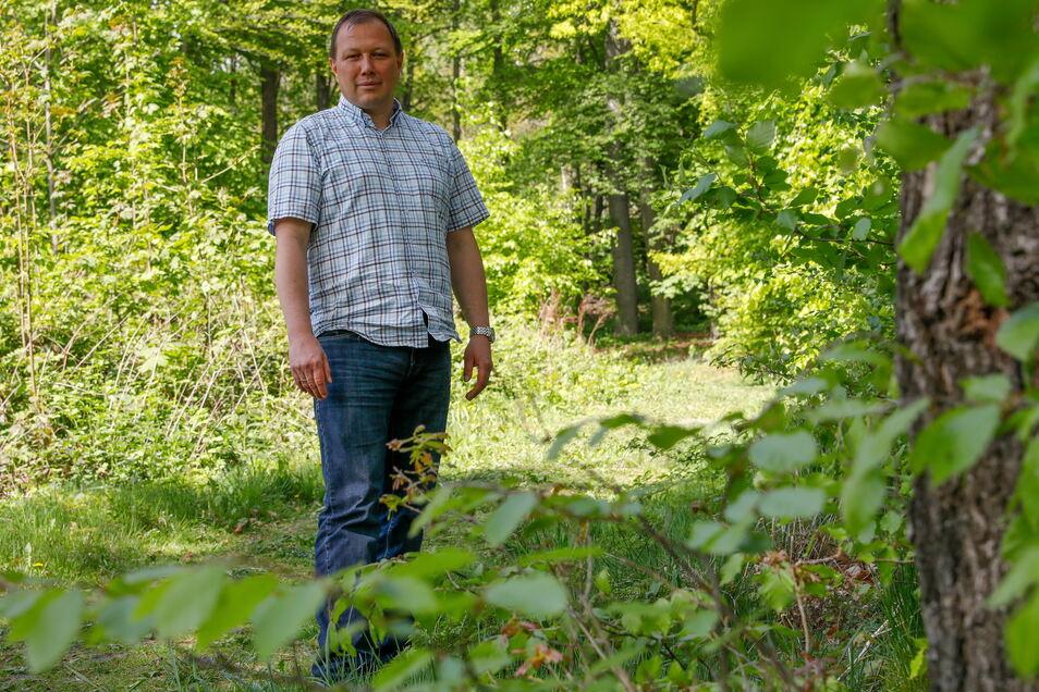 Förster Tilo Freier betreut zahlreiche private Waldbesitzer.