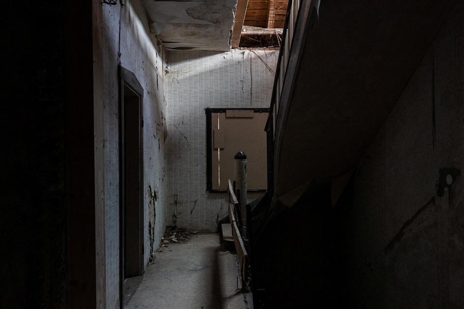 Blick ins Treppenhaus.