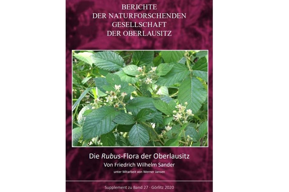 Das Titelblatt zeigt die Lausitzer Brombeere (Rubus lusaticus) auf dem Löbauer Berg.