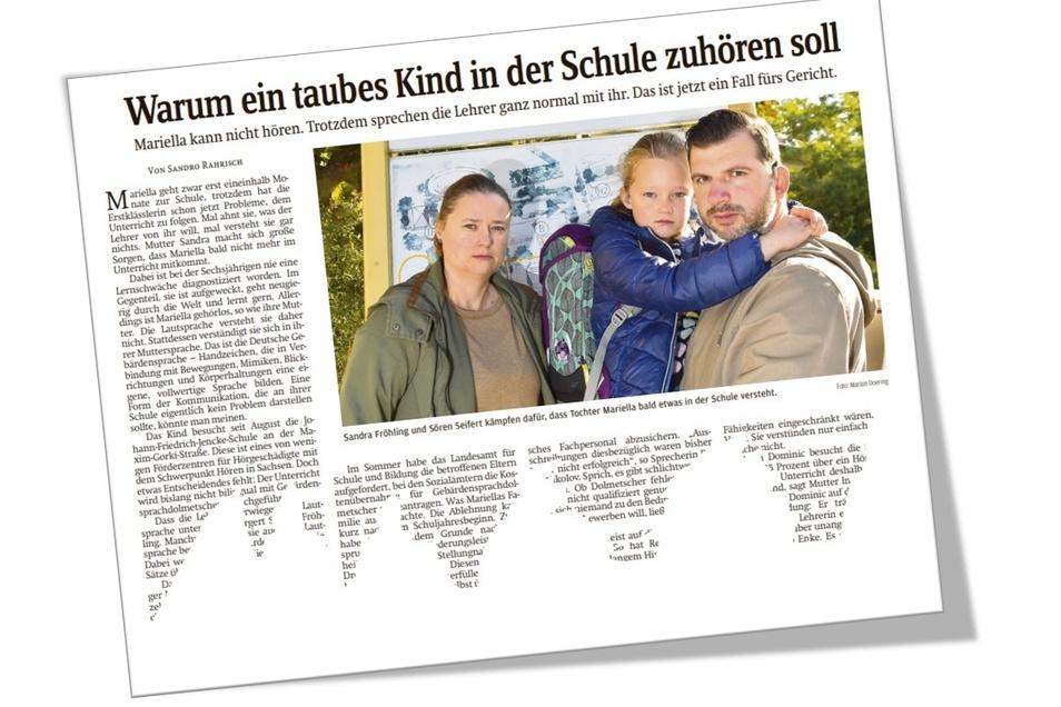 Am 4. Oktober vergangenen Jahres berichtete die SZ erstmals über den Fall der kleinen Mariella.