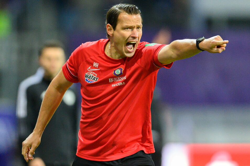 So engagiert wie als Spieler versucht Marc Hensel als Trainer, den FC Erzgebirge in die Erfolgsspur zu bringen. Aus der Übergangs- könnte deshalb eine Dauerlösung werden, wie Aue-Präsident Helge Leonhardt andeutet.