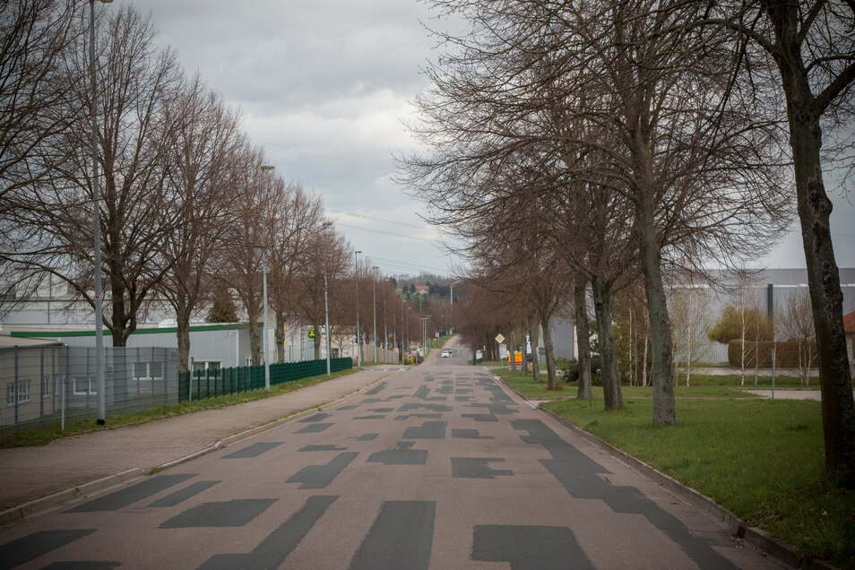 Die Ringstraße ist ein Teil des Gewerbegebiets in Ostrau. Dieses soll in den kommenden Jahren saniert werden.