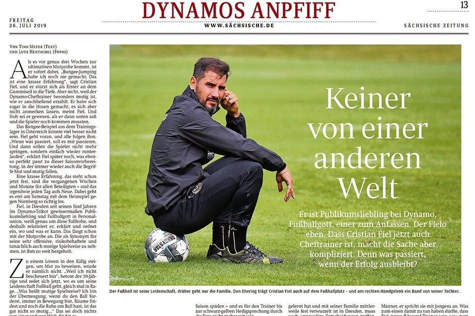 """Was passiert eigentlich, wenn Dynamo auf einem Abstiegsplatz steht – lautete eine der Fragen vor Saisonbeginn. Und gibt es einen Plan B für den Trainerneuling? Fiel vermied Prognosen und sagte: """"Wir werden bereit sein."""""""